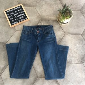 J Brand Lovestory Low Rise Flare Jeans